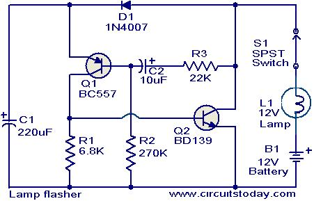 Incredible Lamp Flasher Circuit Electronic Circuits And Diagrams Electronic Letkol Mohammedshrine Wiring Cloud Letkolmohammedshrineorg
