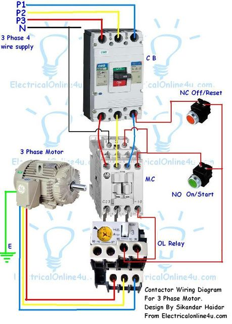 Brilliant Contactor Wiring Guide For 3 Phase Motor With Circuit Breaker Letkol Mohammedshrine Wiring Cloud Letkolmohammedshrineorg