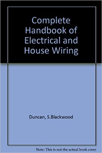 Cool Complete Handbook Of Electrical And House Wiring S Blackwood Duncan Letkol Mohammedshrine Wiring Cloud Letkolmohammedshrineorg