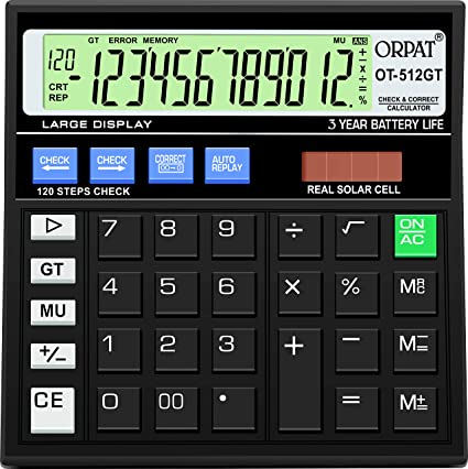 Magnificent Orpat Ot 512Gt Calculator Black Amazon In Office Products Letkol Mohammedshrine Wiring Cloud Letkolmohammedshrineorg
